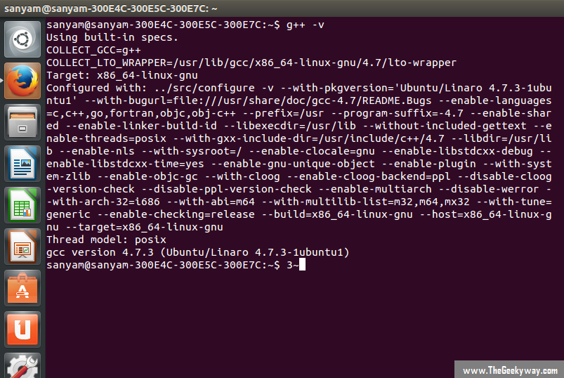 checking for gcc compiler in linux