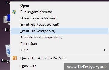 Screenshot of Installed Program
