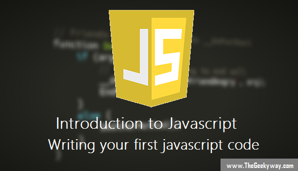 Writing your first javascript code