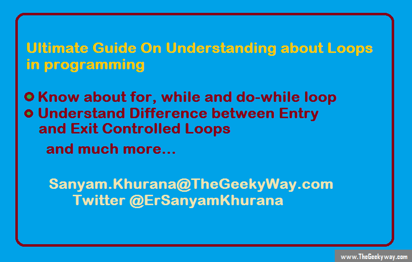 Understand about Loops in Programming, for, while, do while